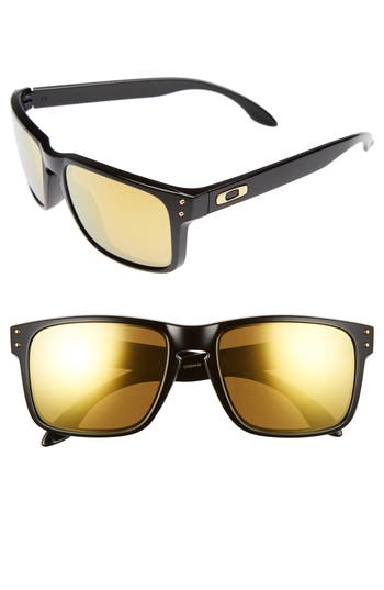 Oakley Holbrook 5m Polarized Sunglasses - Black/ 24K Iridium