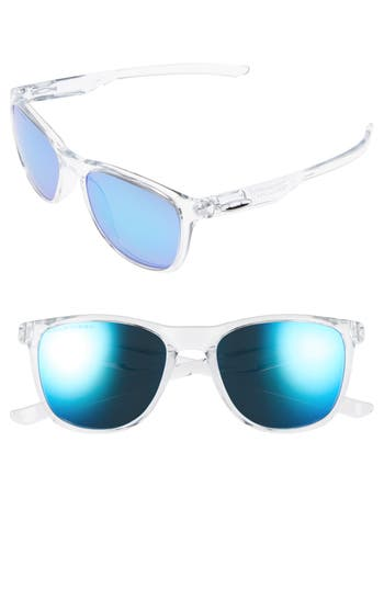 Oakley Trillbe X 52Mm Polarized Sunglasses - Clear/ Sapphire Iridium P