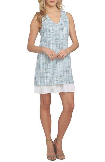 Cece Isabella Tweed Dress, Blue