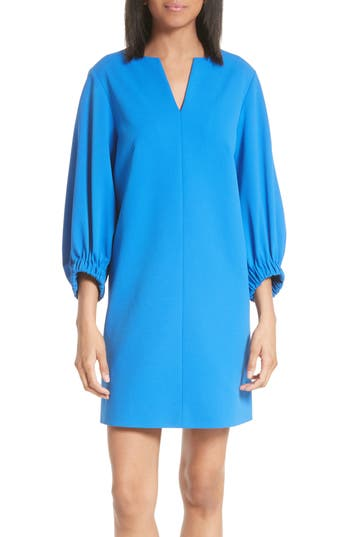 Tibi Stretch Crepe Shift Dress, Blue