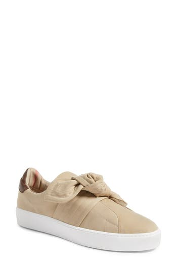 Burberry Knot Leather Sneaker, Brown