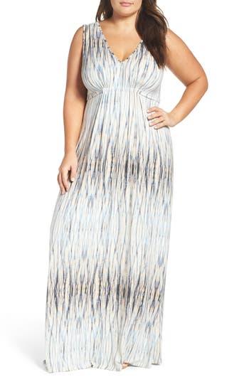 Plus Size Tart Grecia Sleeveless Jersey Maxi Dress, Grey