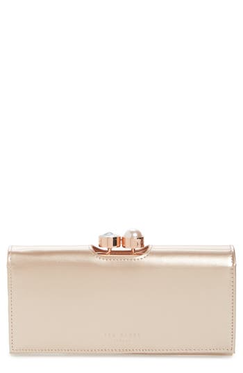 Ted Baker London Leather Matinee Wallet - Metallic