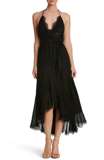 Women's Dress The Population Gia Backless Chiffon Wrap Dress