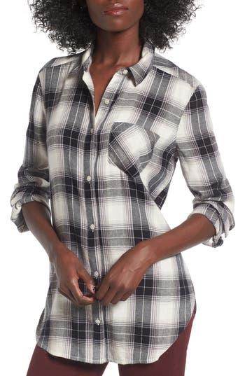 Women's Bp. Plaid Cotton Blend Shirt