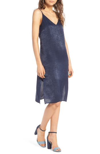 Women's Soprano Satin Slipdress, Size X-Small - Blue