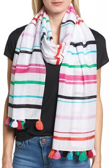 Women's Kate Spade New York Fiesta Stripe Oblong Scarf