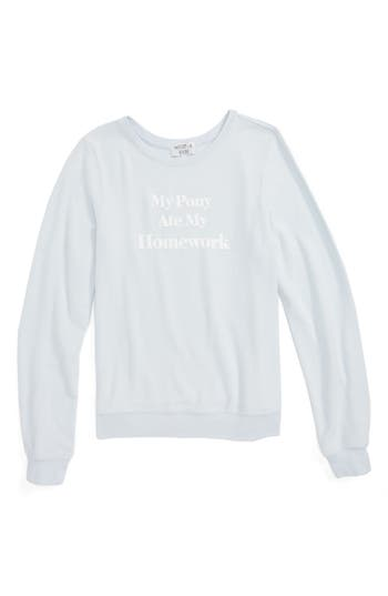 Girl's Wildfox Pony Problems Baggy Beach Jumper