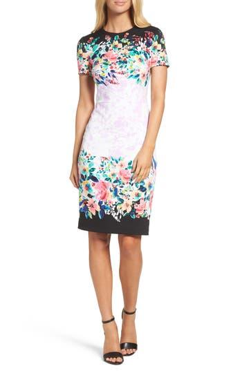 Maggy London Floral Print Scuba Dress