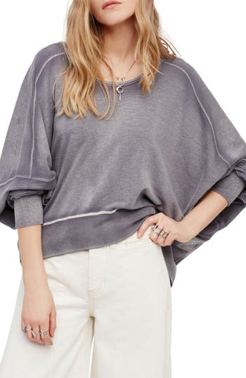 Free People Back It Up Pullover, Grey