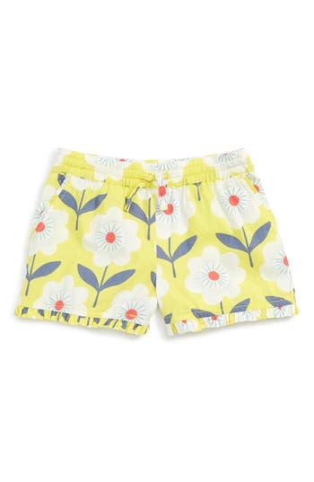 Girl's Mini Boden Ruffle Trim Shorts, Size 5Y - Yellow