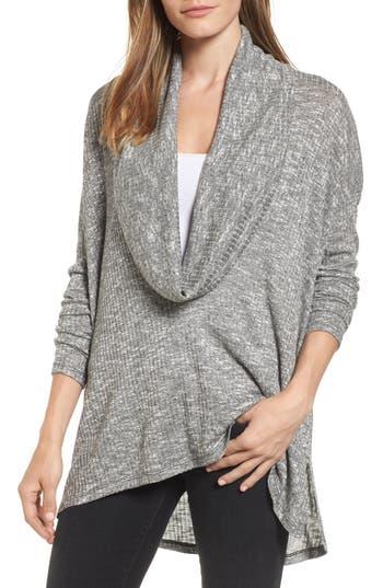 Michael Stars Deep Cowl Neck Knit Top, Size One Size - Black