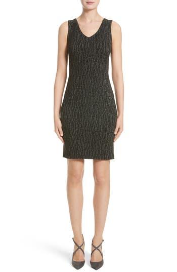Armani Collezioni Snake Print Jersey Sheath Dress, Grey