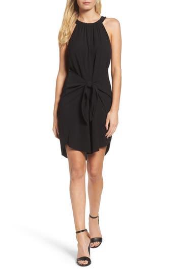 Greylin Elyse Tie Front Sheath Dress, Black