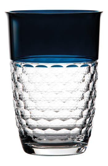 Waterford Jo Sampson Half & Half Teal Lead Crystal Vase, Size One Size - White