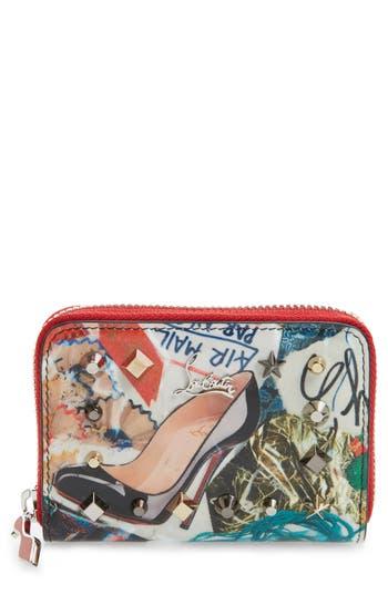 Christian Louboutin Panettone Calfskin Leather Coin Purse -