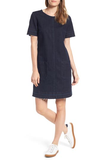 Two By Vince Camuto Release Hem Denim Dress