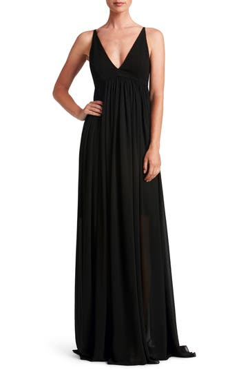 Dress The Population Phoebe Chiffon Gown, Black