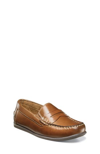 Boys Florsheim Jasper  Driver Jr. Loafer Size 7 M  Brown