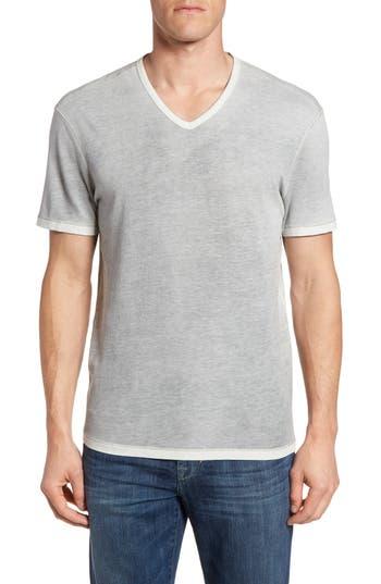 John Varvatos Star Usa Mini Jacquard V-Neck T-Shirt, Grey
