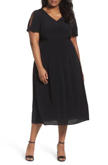 Plus Size Sejour Cold Shoulder Flared Dress