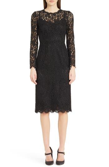 Dolce & gabbana Lace Sheath Dress, US / 40 IT - Black