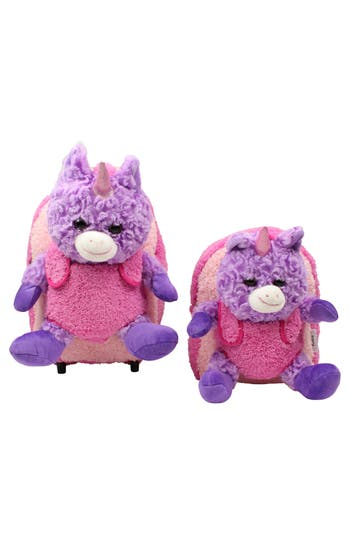Toddler Popatu Trolley Rolling Backpack Set - Purple