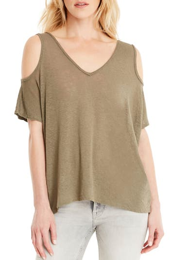 Michael Stars Cold Shoulder Tee, Size One Size - Green