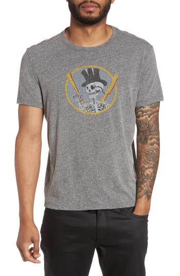 John Varvatos Star Usa Top Hat Skull Graphic T-Shirt