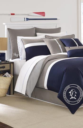 Southern Tide Starboard Comforter, Sham & Bed Skirt Set, Size Twin - Blue