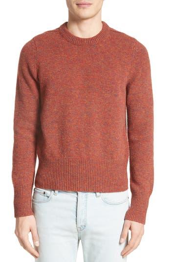 Acne Studios Kai Melange Wool Sweater, Orange