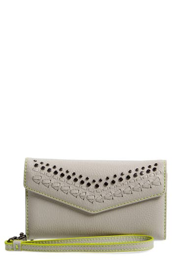 Women's Rebecca Minkoff Studded Leather Iphone 7 Wristlet - Grey