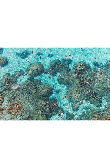 Gray Malin The Reef Bora Bora Art Print, Size One Size - Blue