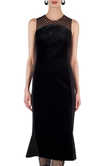 Akris Punto Illusion Velvet Trumpet Dress
