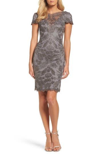 Tadashi Shoji Lace Sheath Dress, Grey