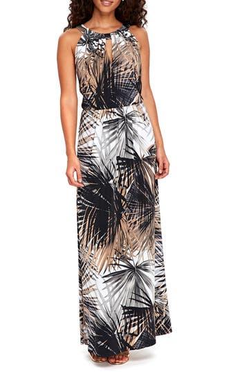 Wallis Neutral Palm Maxi Dress