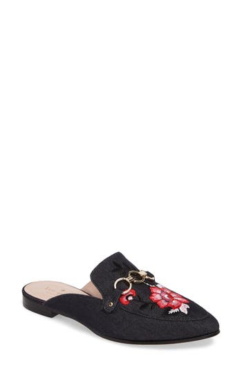 Kate Spade New York Canyon Embroidered Loafer Mule, Blue