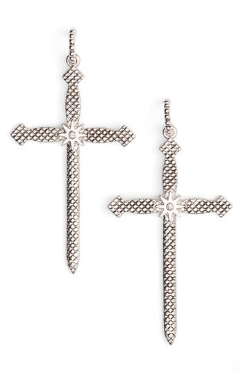 Women's Luv Aj Serpent Cross Earrings