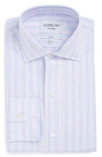 Men's Ledbury The Loder Check Slim Fit Dress Shirt