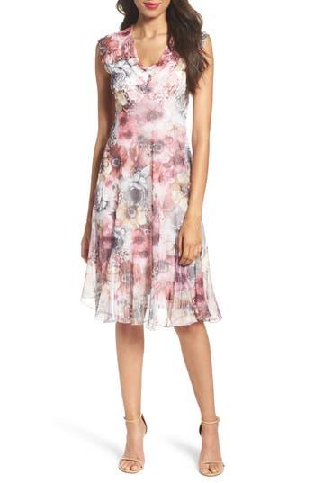 Komarov Chiffon A-Line Dress, Pink
