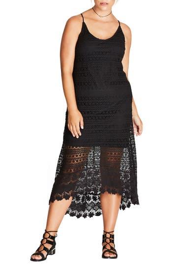 Plus Size City Chic Crochet Maxi Dress