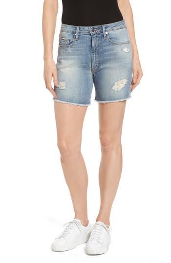 High Waist Denim Cutoff Shorts