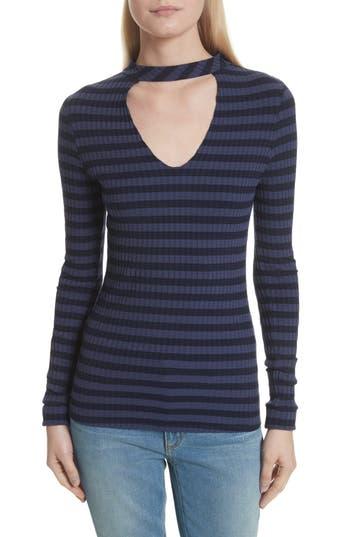 Women's Twenty Stripe Cutout Tee