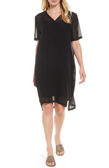 Eileen Fisher Silk V-Neck Shift Dress