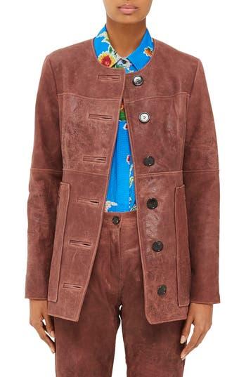 Women's Topshop Unique Olivia Leather Jacket