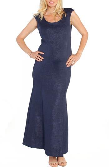 Angel Maternity Dress To Impress Maternity Maxi Dress, Blue