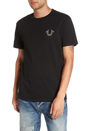 True Religion Silver Buddha T-Shirt, Black