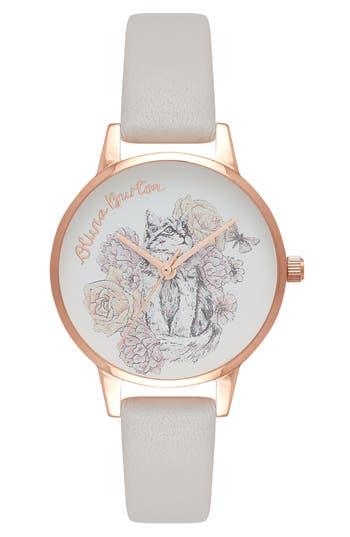 Women's Olivia Burton Animal Leather Strap Watch, 30Mm