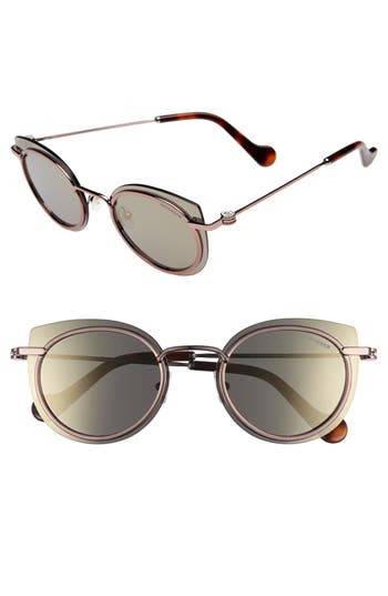 Moncler 5m Mirrored Cat Eye Sunglasses -