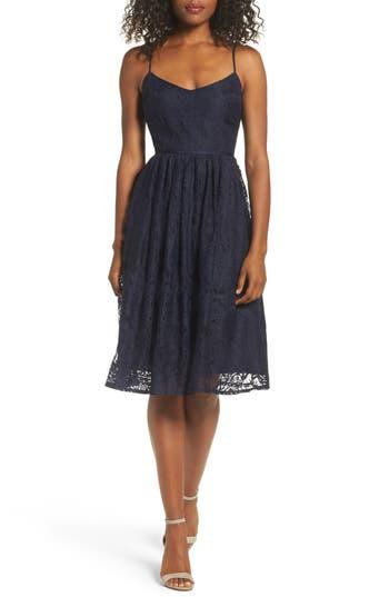Bb Dakota Galena Fit & Flare Dress, Blue